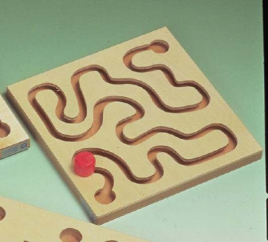 Smooth Curved Maze