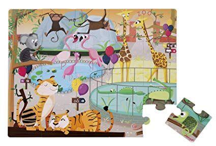 Giant Tactile Animal Puzzle - Zoo