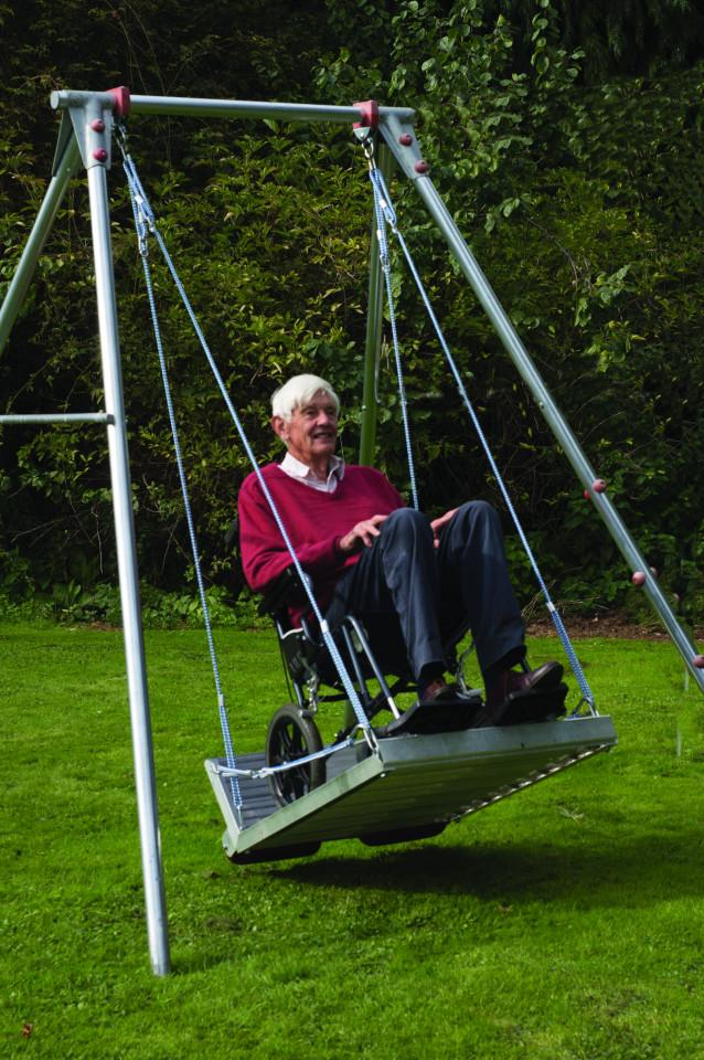 Wheelchair Platform Swing with Frame