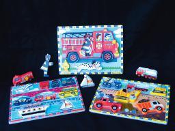 Vehicles Chunky Puzzle Kit (set of 3)