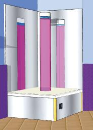 Bubble Column Podium Seat Base